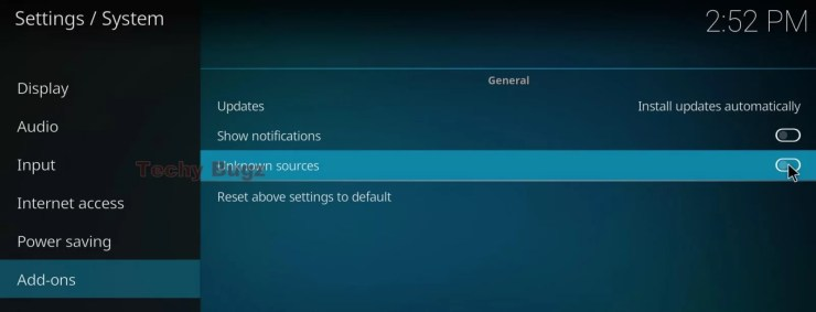 Steps to Set upUnknown Sources in Kodi