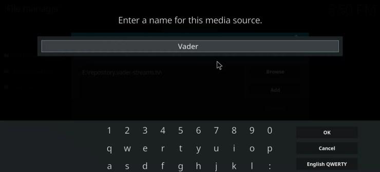Vader Streams Kodi Addon