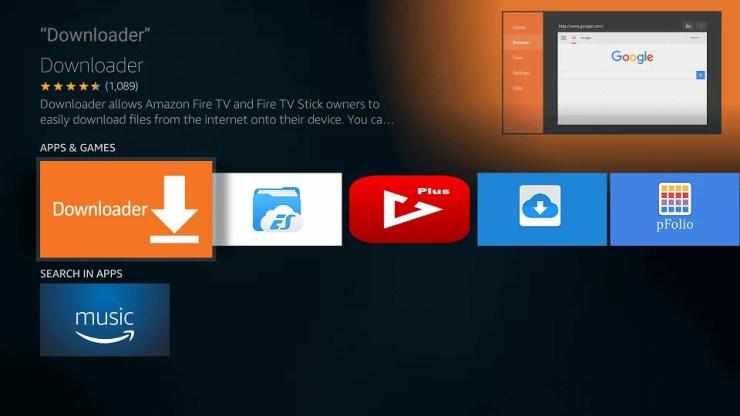 Downloader for Fire