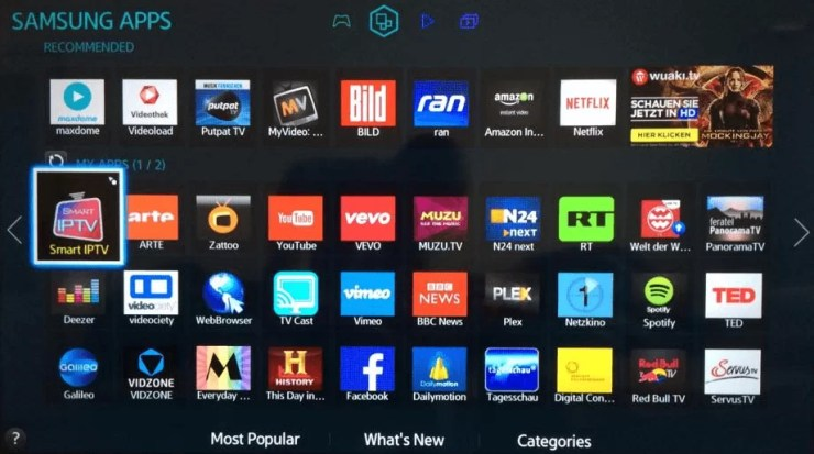 How to Set-UPIPTV on Samsung Smart TV