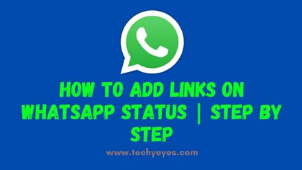 Add Links on Whatsapp Status