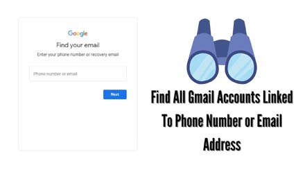 Find All Gmail Accounts Linked To Phone Number