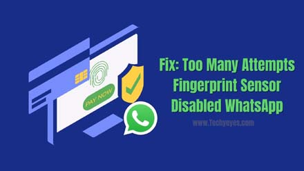 Fingerprint Sensor Disabled WhatsApp