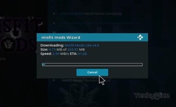 How to Install Misfit Mods Lite Build on Kodi Leia? - TechyMice