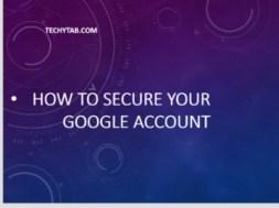 secure google account