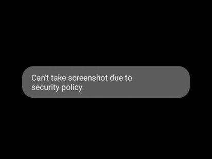 """[Solution] """"Can't take screenshot due to security policy"""" Android"""