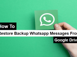 restore backup WhatsApp messages from google drive
