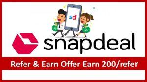 Snapdeal Referral Program Earn 200 Per Refer ( Snapdeal से Online 200 रुपये कैसे कमाए )