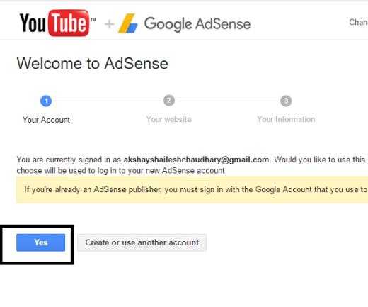 welcome adsense