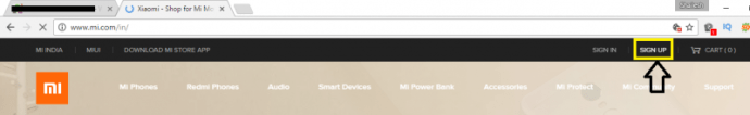 Open mi Official website