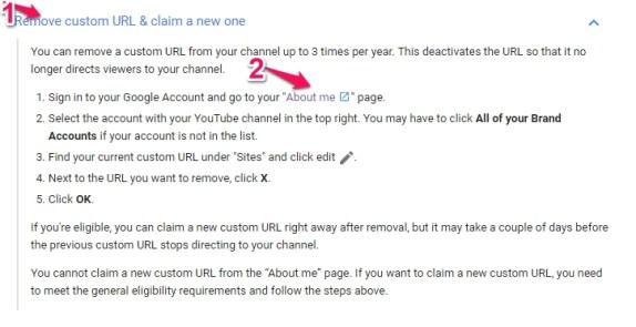 remove custom url