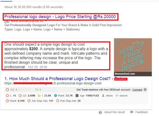 price of logo