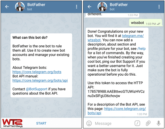 The best: create telegram channel with bot