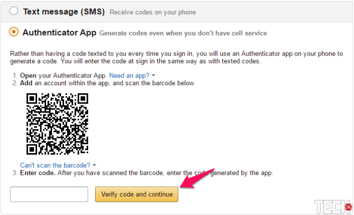 ENABLE AMAZON TWO-STEP VERIFICATION WITH AUTHENTICATOR APP