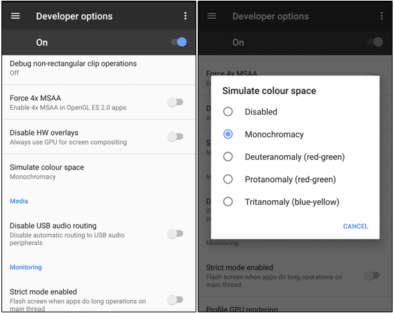 Enable Dark Mode in Android