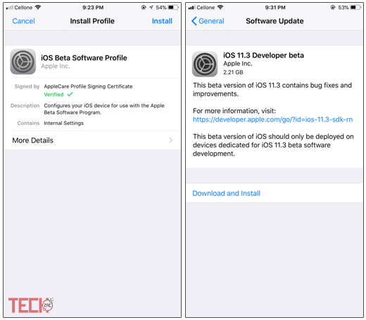 Download and Install iOS 11.3 Beta 1 without Developer Account