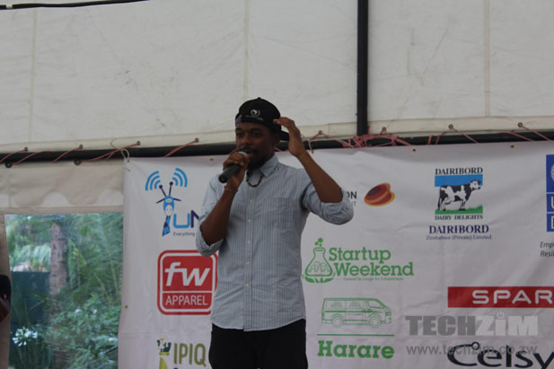 Tehn Diamond at Startup Weekend Harare