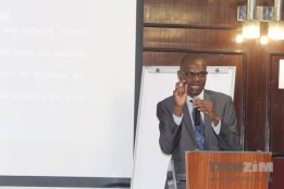 Kuda Hove, a legal officer with Veritas speaking at the ZIE Cybercrime Bill Workshop 2016