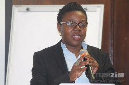 Koliwe Nyoni from MISA speaks on digital Rights at the Cybercrime Bill Workshop