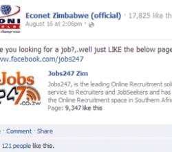 Econet Zim Fake Page