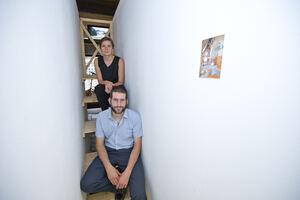 """Ausstellungseröffnung """"Schwarzes Korn"""" (Rambouillet #2), im Kornhaus"""