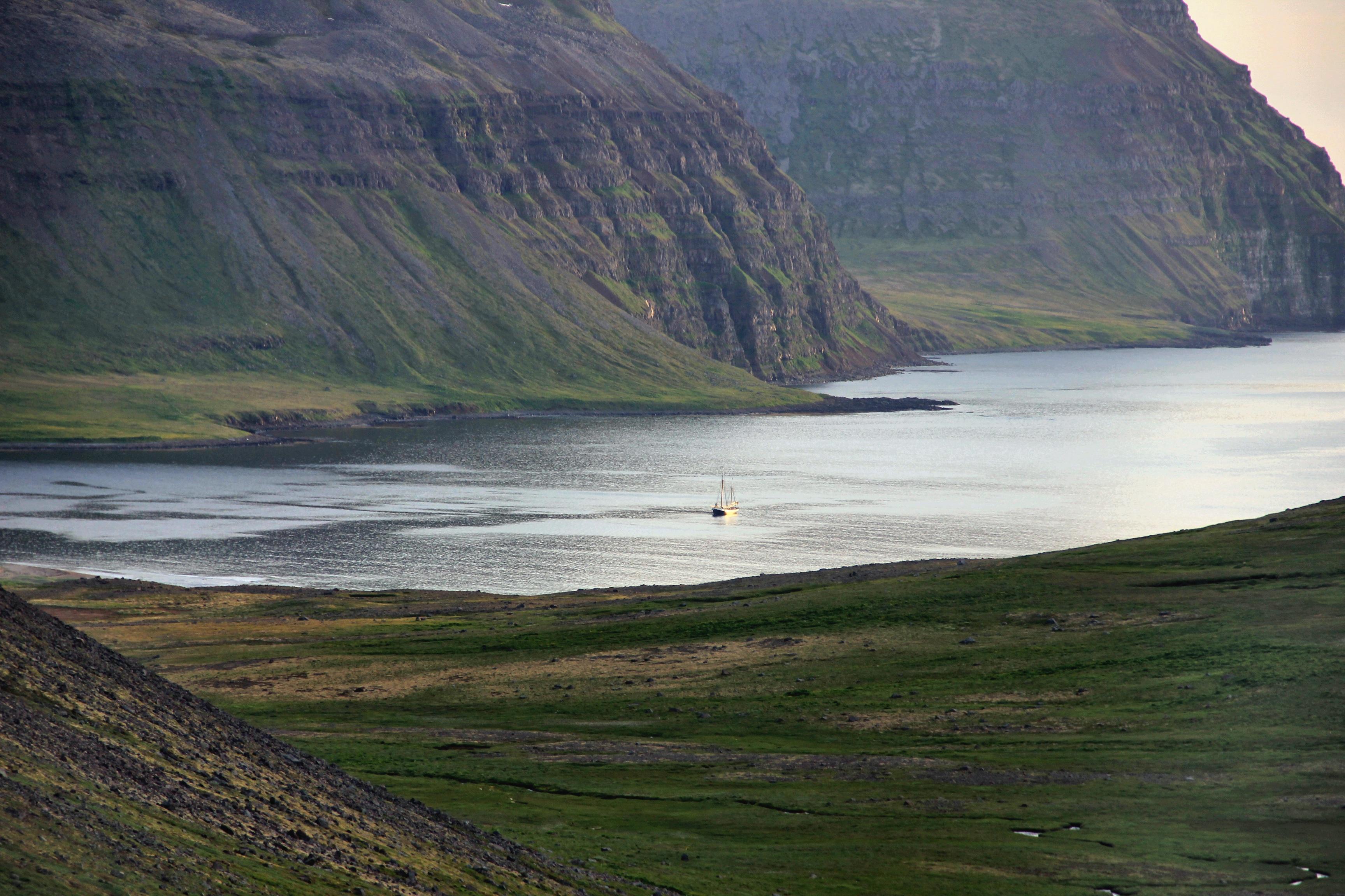 Tecla anchored in adelvik