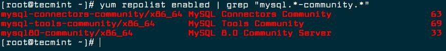Verify MySQL Yum Repository