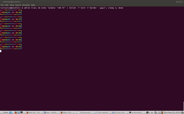 Linux while command