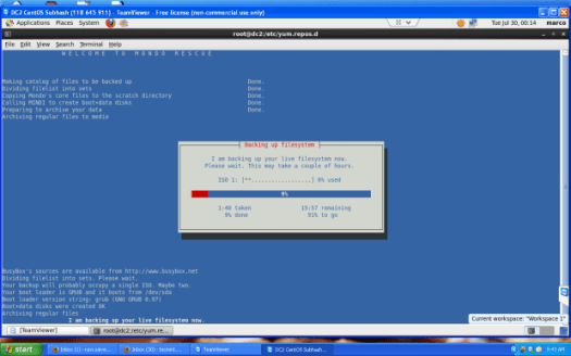 Mondo Rescue Backup Filesystem