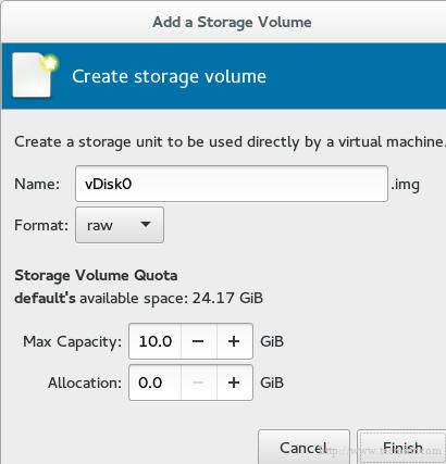 Create KVM VM Storage Disk