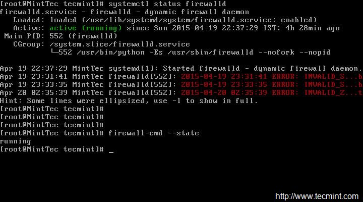 Check Firewalld Status