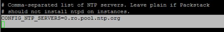 Packstack'ta NTP Sunucusu Ekleme