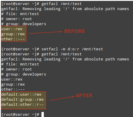 Set Default ACL to Linux Directory