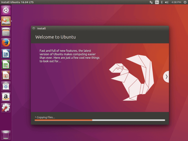 Ubuntu 16.04 Installation Process