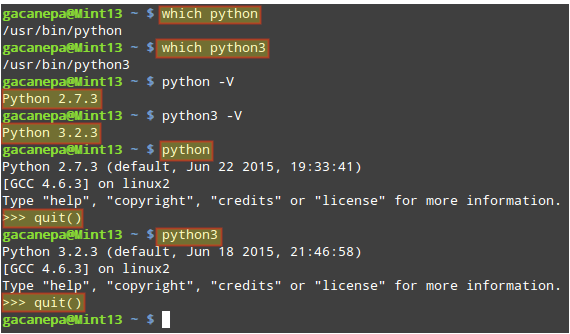 Running Python Commands on Linux