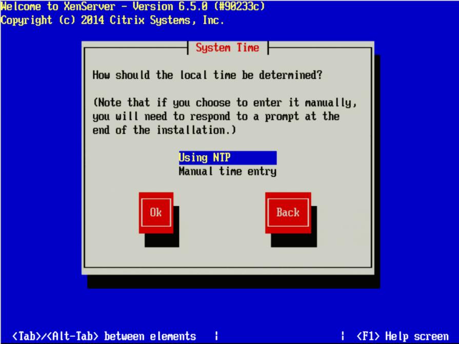 Setel Waktu Sistem XenServer