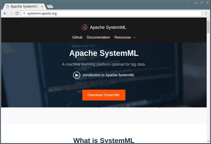 Apache SystemML - Machine Learning Platform