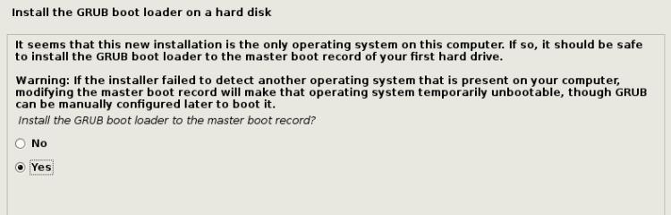 Install GRUB Boot Loader