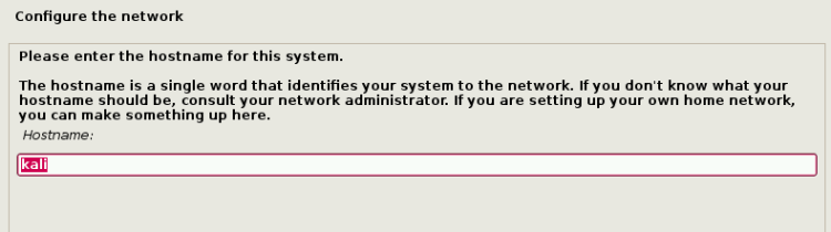 Set Hostname for Kali Linux