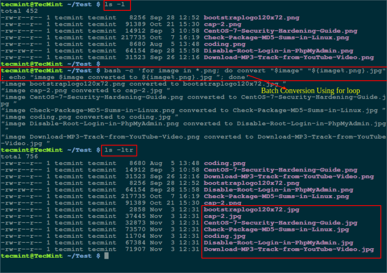 for loop - Convert PNG to JPG Format