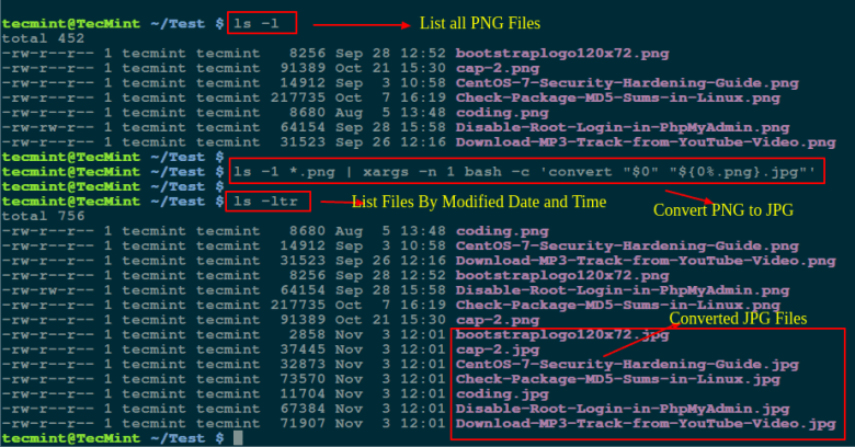 Convert PNG to JPG Format in Linux