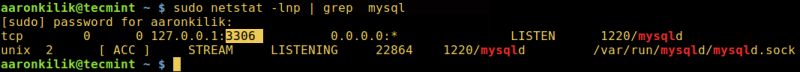 Find MySQL Port Number