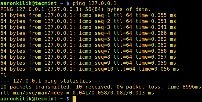 Ping Host Machine