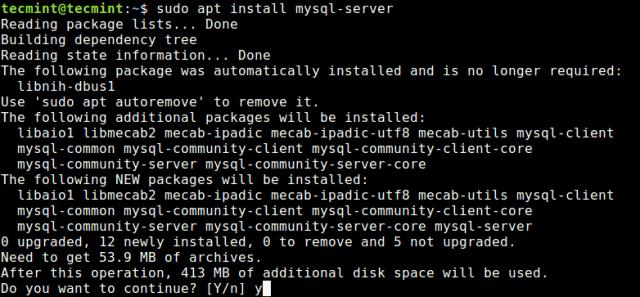 Install MySQL 8.0 in Ubuntu 18.04