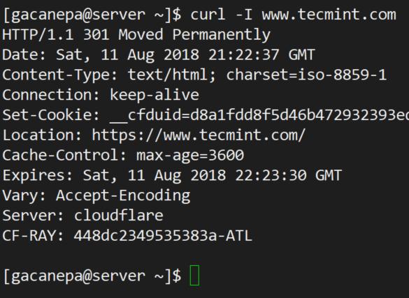Curl-Abfrage-HTTP-Header