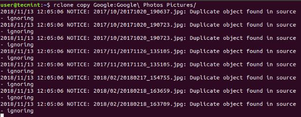 rclone - Daten kopieren