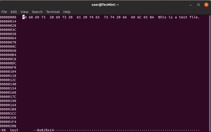Hexedit for Linux