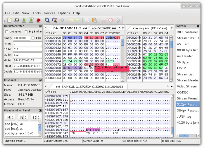 wxHexEditor for Linux