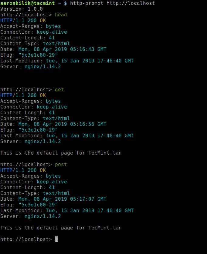 Run HTTP Methods