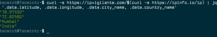 Get Linux Server Location Details